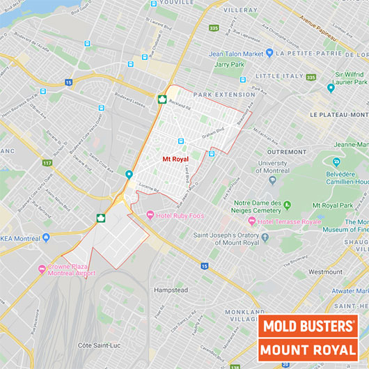 Mount Royal Quebec map