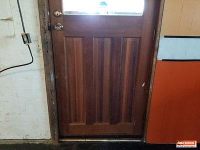 Hidden mold on wooden door