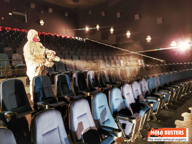 Mold Remediation Fogging Movie Theater 2